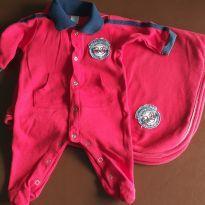 Saída de maternidade vermelha - Recém Nascido - Baby Classic