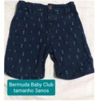 Bermuda azul marinho - 3 anos - Baby Club