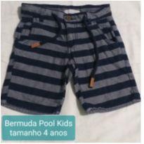 Bermuda listrada - 4 anos - Pool Kids