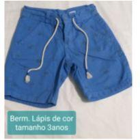 Bermuda azul - 3 anos - Lápis de Cor