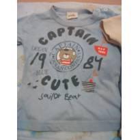 Camiseta e um bory menino - 3 a 6 meses - Não informada