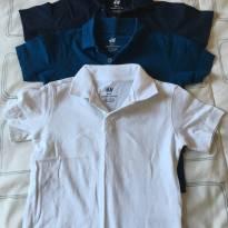 Camisas polo H&M - kit com 3 unidades - 2 anos - H&M