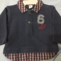 Blusa de frio estilo mauricinho - 0 a 3 meses - Sonho Mágico