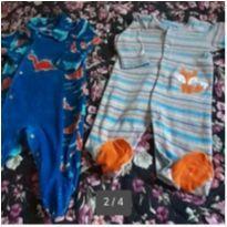 Kit 2 macacões fofos!!! - 3 a 6 meses - Tip Top e Little Me