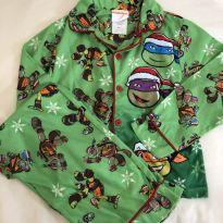 Pijama tartarugas ninja nickelodeon - 6 anos - nickelodeon