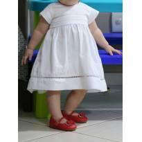 Vestido Branco Chicco, Lindo! - 1 ano - Chicco