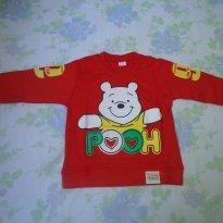 Moletom Pooh vermelho - 3 anos - Não informada
