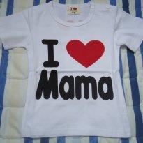 Camisa importada - 6 meses - I love papa e mama