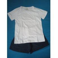 Pijama Villa Enzo branco/azul marinho - 6 anos - Villa Enzo