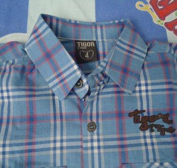 Camisa xadrez Tigor - 4 anos - Tigor T.  Tigre