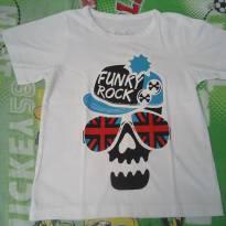 Camisa FUNKY ROCK branca - 5 anos - Não informada