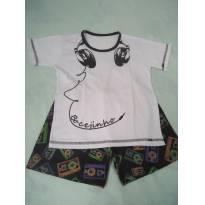 Pijama BOCEJINHO branco/preto - 6 anos - Bocejinho