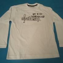 Camisa HMMR branca - 6 anos - Não informada