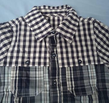 Camisa xadrez Tigor azul - 4 anos - Tigor T.  Tigre