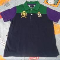 Camisa Tommy azul/verde/roxa - 6 anos - Tommy Hilfiger