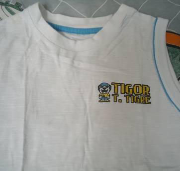 Conjunto Tigor branco/azul - 6 anos - Tigor T.  Tigre