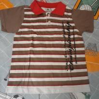Camisa polo Molekada marrom/vermelha - 6 anos - Molekada