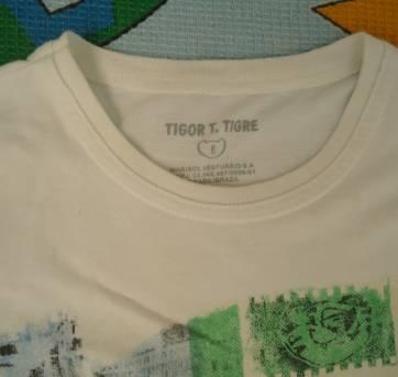 Camisa Tigor branca - 6 anos - Tigor T.  Tigre