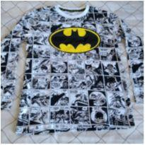 Camisa manga comprida do Batman branca - 8 anos - DC Comics