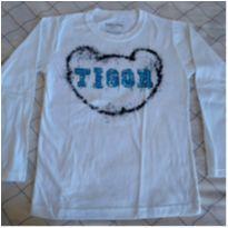 Camisa manga comprida Tigor branca - 8 anos - Tigor T.  Tigre