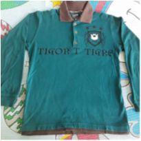 Camisa polo manga comprida Tigor - 6 anos - Tigor T.  Tigre