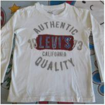 Camisa manga comprida Levi`s branca - 6 anos - Levi`s