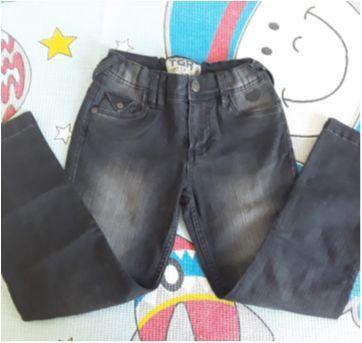 Calça jeans preto Tigor - 6 anos - Tigor T.  Tigre