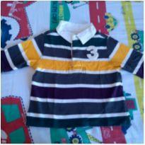 Camisa polo manga comprida importada - 6 a 9 meses - Place