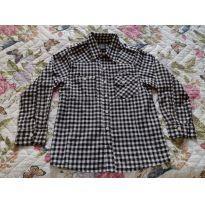 Camisa manga comprida xadrez Tigor - 8 anos - Tigor T.  Tigre
