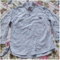 Camisa manga comprida social listrada - 8 anos - Joana Joao