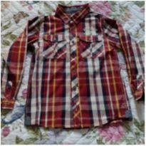 Camisa manga comprida xadrez Brandili - 8 anos - Brandili