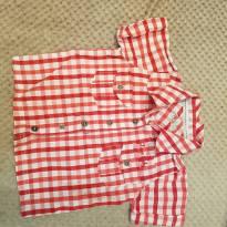 Camisa infantil Social xadrez - 3 a 6 meses - Tigor Baby