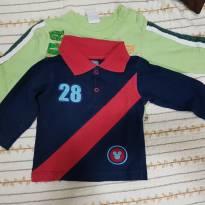 Camisa manga longa - 3 a 6 meses - Brandili