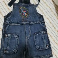 Jardineira Jeans - 24 a 36 meses - chicote baby