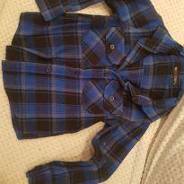 Camisa Xadrex Azul Tam 4 - 4 anos - red dot
