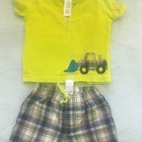 Camisa polo e short - 6 a 9 meses - Carter`s