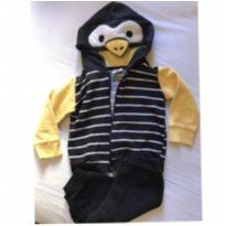 Conjunto de moletom pinguim - 6 meses - Zig Zig Zaa