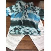Conjunto Calça Sarja e Camisa Tie Dye