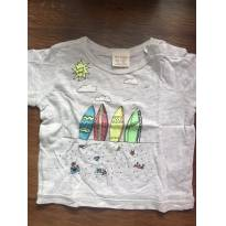 Camiseta Zara Pranchas - 6 a 9 meses - Zara Baby