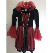 Vestido Vampira Halloween - 10 anos - Desconhecida