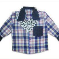Camisa Xadrez Junina tam1 - 12 a 18 meses - Bicho Brasil