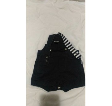 Macacão Jeans menino - 3 a 6 meses - Hering Baby