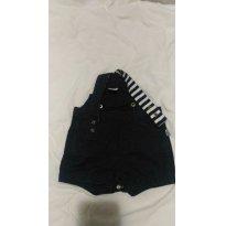Macacão Jeans menino - 3 a 6 meses - Hering Baby