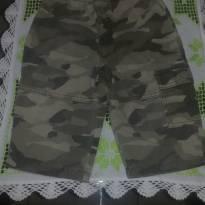 Calça de sarja Miniwear, com estampa camuflada - 9 a 12 meses - Miniwear- USA