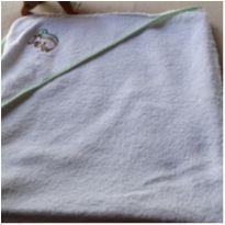 Toalha de banho branca com touca -  - Não informada