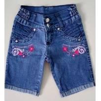 bermudinha jeans - 8 anos - Não informada