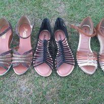 lote sandalias(38) - 36 - Várias