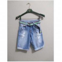 bermuda jeans - 8 anos - Não informada