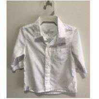 Camisa branca social Planet Kids - 3 a 6 meses - Planet Kids