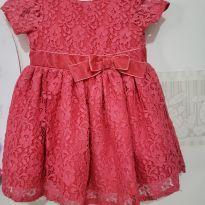 Vestido carter`s renda - 6 a 9 meses - carter`s, baby gap, zara
